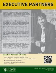 EXECUTIVE PARTNERS - Mason School of Business
