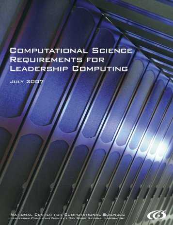 Computational Science Requirements for Leadership Computing