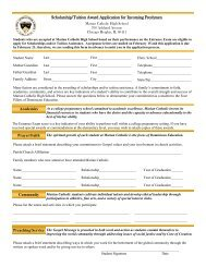 Scholarship/Tuition Award Application for Incoming Freshmen
