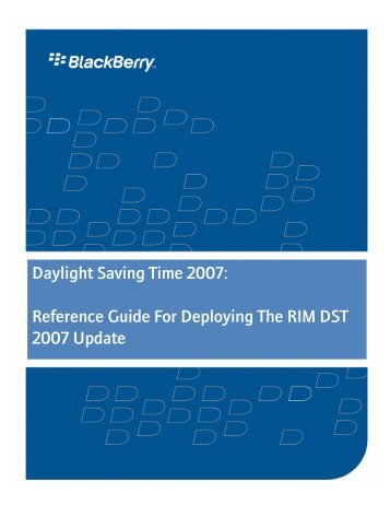 Deploying DST 2007 Update
