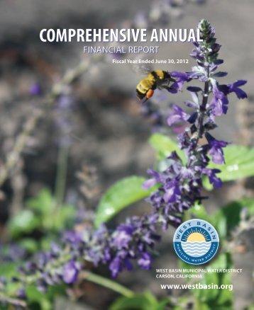 2012 Comprensive Annual Financial Report - West Basin Municipal ...