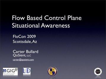 Flow Based Control Plane Situational Awareness - Cert