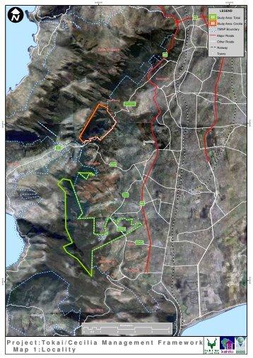 Project: Map 1: Tokai/Cecilia Management Framework ... - SANParks