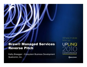 Brew® Managed Services Reverse Pitch - Uplinq