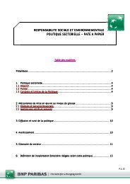 Politique sectorielle pâte à papier 2011 09 12 - BNP Paribas