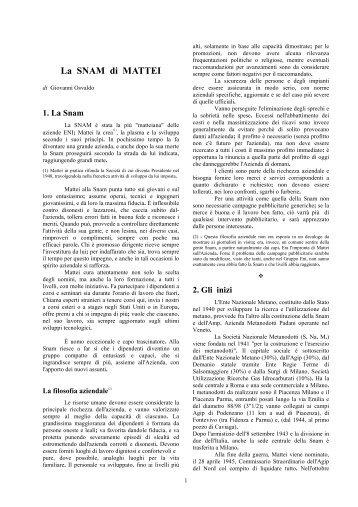 La_SNAM_di_Mattei - associazione pionieri e veterani eni