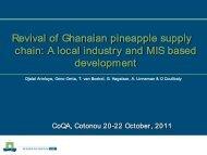 Ghanaian's pineapple sub-sector - CoQA