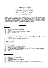 Diplomprüfungsordnung - ZSB - Westfälische Wilhelms-Universität ...