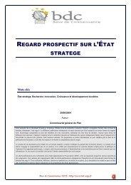 Regard prospectif sur l'Etat stratège - Base de connaissance AEGE