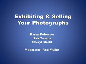 How to Exhibit and Sell Your Photographs