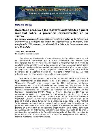 Descargar Noticia de Prensa - Exopolitica España