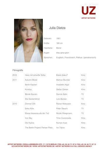 Julia Dietze - ARTIST NETWORK