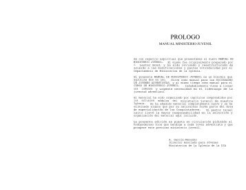 Manual Ministerio Juvenil - Ptr. Arturo Quintero