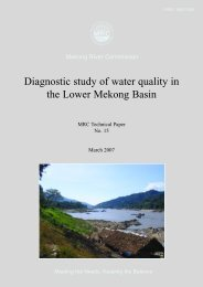 Diagnostic study of water quality in the Lower Mekong Basin