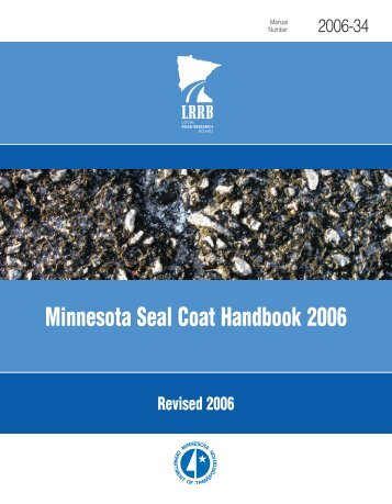Minnesota Seal Coat Handbook 2006 - Minnesota Local Road ...
