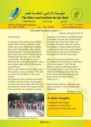 In dieser Ausgabe: 2010 Nr. 1 - Allah Kariem
