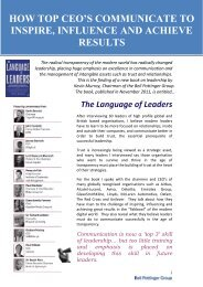 The Language of Leaders - Chime Communications