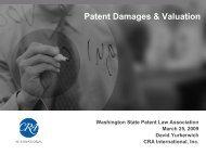 Patent Damages & Valuation - WSPLA: Washington State Patent ...