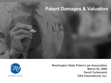 Patent Damages & Valuation - WSPLA: Washington State Patent ...