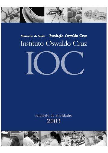 RELATÓRIO 2003 PARTE REFERENCIA.p65 - Fiocruz