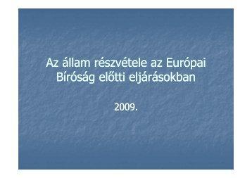Az állam részvétele az Európai Bíróság előtti eljárásokban