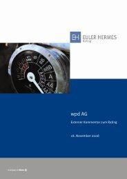 wpd AG - Euler Hermes Rating Deutschland GmbH