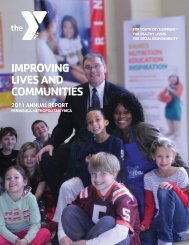 improving lives and communities - Peninsula Metropolitan YMCA