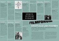 Digitalen Lektionen - Filmforum NRW