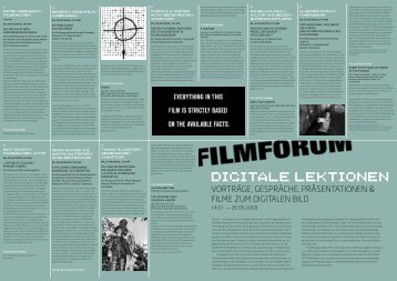 Digitalen Lektionen - Filmforum NRW