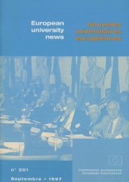 [eng] European University News N° 201 [fre] Nouvelles ...