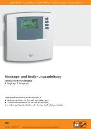 Montage- und Bedienungsanleitung DE - Mare Solar