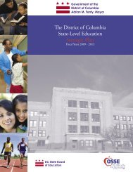 The District of Columbia State-Level Education ... - News Room, DC