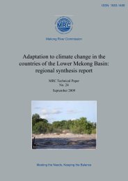 Adaptation to climate change in the countries of - Mekong River ...