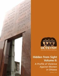 Hidden from Sight Volume II: - Ottawa Coalition to End Violence ...