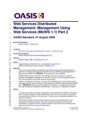 (MUWS 1.1) Part 2 - docs oasis open - Oasis