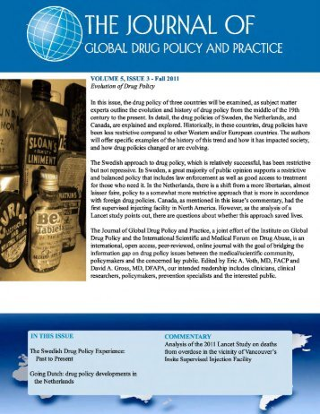 VOLUME 5, ISSUE 3 - The Institute on Global Drug Policy