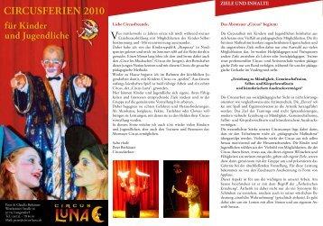CirCuSferien 2010 - Circus Luna