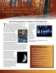 THE grand canyon photography club