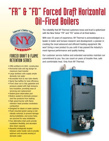 Heavy duty ironer with integrated thermal oil boiler progastro fr fd forced draft horizontal oil fired boilers ny sciox Gallery