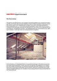 Bürohaus, Leipziger Innenstadt (PDF, 83 KB) - cuprotherm