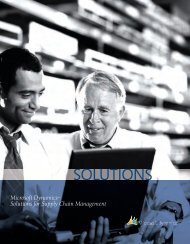 Microsoft Dynamics – (Supply Chain Management Solutions)