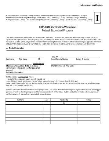 Student Aid Eligibility Worksheet - Vintagegrn