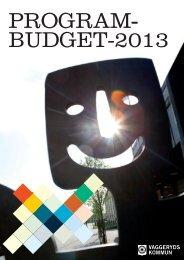 Programbudget 2013.pdf - Vaggeryds kommun