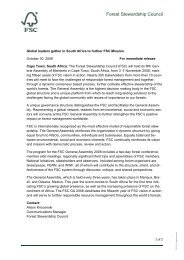 FSC GA press release.pdf - Forest Stewardship Council