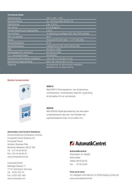 Universal regulator SDC - brochure over