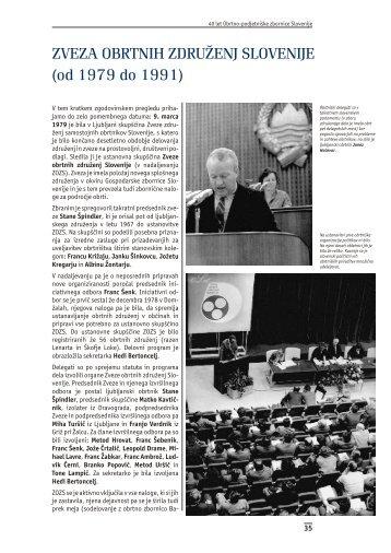 ZVEZA OBRTNIH ZDRUŽENJ SLOVENIJE (od 1979 do 1991) - OZS