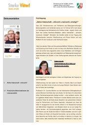 Dokumentation der Fachtagung 'Aktive Vaterschaft – erforscht ...