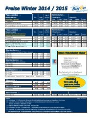Buron Wintersport Preisliste