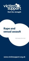 Rape and sexual assault information for men