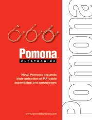 Pomona RF Cable Assemblies and Connectors - Pomona Electronics